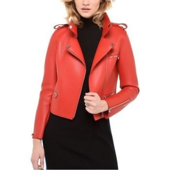 Vêtements Femme Vestes en cuir / synthétiques Arturo Washington Rouge Rouge