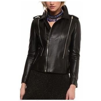 Vêtements Femme Vestes en cuir / synthétiques Arturo Montgomery Noir Noir