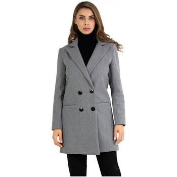 Vêtements Femme Manteaux Kebello Manteau croisé double boutonnage Taille : F Gris M Gris