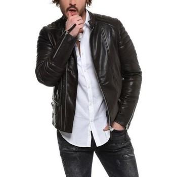 Vêtements Homme Vestes en cuir / synthétiques Arturo Richmond Noir Noir