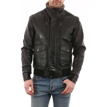 Vêtements Homme Vestes en cuir / synthétiques Arturo Rebal Noir Noir