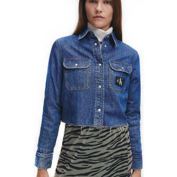 Vêtements Femme Vestes en jean Calvin Klein Jeans Style utilitaire denim Bleu