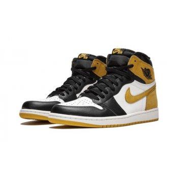 Chaussures Baskets montantes Nike Air Jordan 1 High Yellow Ochre Summit White/Black/Yellow Ochre