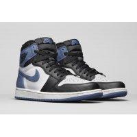 Chaussures Baskets montantes Nike Air Jordan 1 High Blue Moon Summit White/Black-Blue Moon