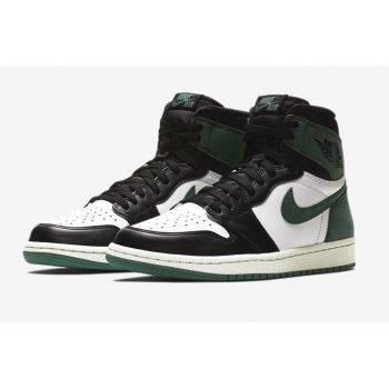 Chaussures Baskets montantes Nike Air Jordan 1 High Clay Green Summit White/Black-Clay Green