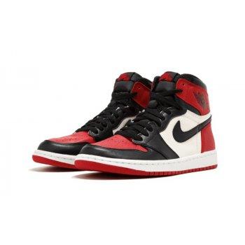 Chaussures Baskets montantes Nike Air Jordan 1 High Bred Toe Gym Red/Black-Summit White