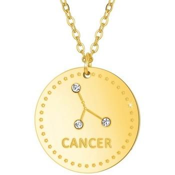 Montres & Bijoux Femme Colliers / Sautoirs Sc Crystal B2449-CANCER Doré