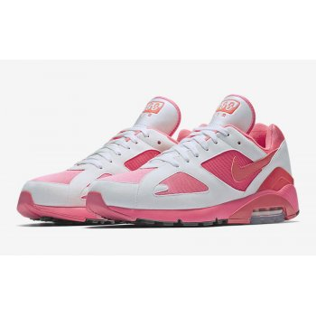 Chaussures Baskets basses Nike Air Max 180 x CDG White Laser Pink/Solar Red-White