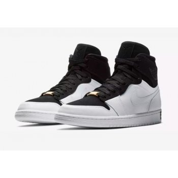 Chaussures Baskets montantes Nike Air Jordan 1 High Equality Black/Black/White-Metallic Gold