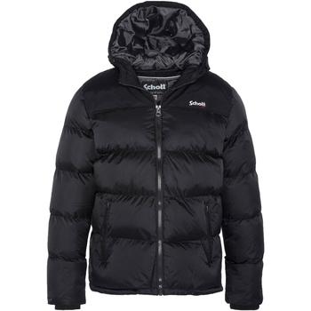 Vêtements Homme Doudounes Schott Doudoune matelassée à capuche Noir