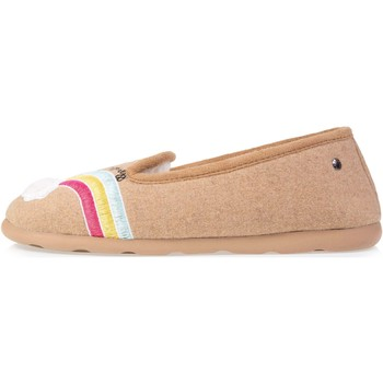 Chaussures Femme Chaussons Isotoner Chaussons charentaises Beige
