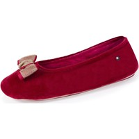 Chaussures Femme Chaussons Isotoner Chaussons ballerines grand nœud bijou  Bordeaux