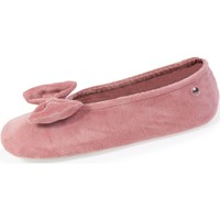 Chaussures Femme Chaussons Isotoner Chaussons ballerines grand nœud Blush