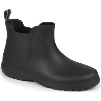 Chaussures Homme Bottes de pluie Isotoner Bottes de pluie basses légères Noir