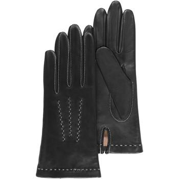 Accessoires textile Femme Gants Isotoner Gants cuir d'agneau avec surpiqûres contrastées Noir