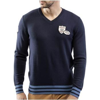 Vêtements Homme Pulls Shilton Pull col V patch coton laine Bleu marine