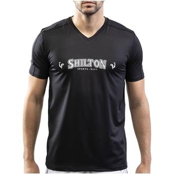 Vêtements Homme T-shirts manches courtes Shilton T-shirt sport col v Noir