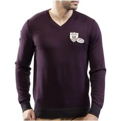 Vêtements Homme Pulls Shilton Pull col V patch coton laine Rouge