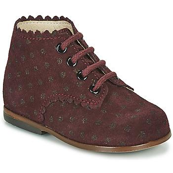 Chaussures Fille Baskets montantes Little Mary VIVALDI Bordeaux