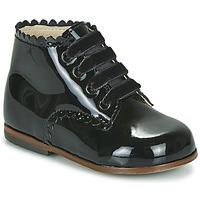 Chaussures Fille Baskets montantes Little Mary VIVALDI Noir