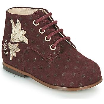 Chaussures Fille Baskets montantes Little Mary MEIGE Bordeaux