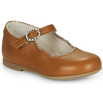 Chaussures Fille Ballerines / babies Little Mary AUBERIE Marron