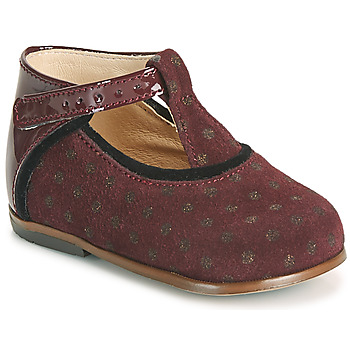 Chaussures Fille Baskets montantes Little Mary BETHANY Bordeaux