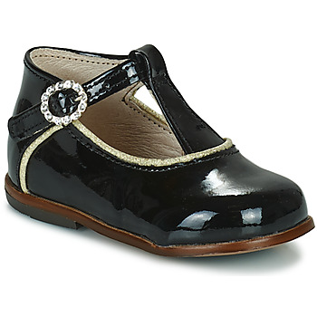 Chaussures Fille Baskets montantes Little Mary BETHANY Noir