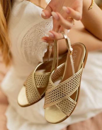 Chaussures Femme Sandales et Nu-pieds Céleste ORANGER Doré