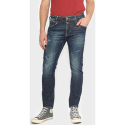 Vêtements Homme Jeans slim Japan Rags Raffi 900/16 tapered 7/8ème jeans destroy bleu-noir n°2 BLUE