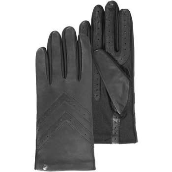 Accessoires textile Femme Gants Isotoner Gants dos en cuir Noir