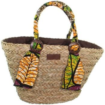 Sacs Femme Cabas / Sacs shopping Le Voyage En Panier Panier  ref_49103 Multi 47*32*16 Palmier