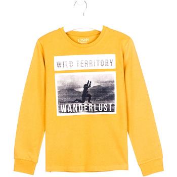 Vêtements Enfant T-shirts manches longues Losan 023-1027AL Jaune