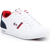 Chaussures Homme Baskets basses Lacoste Europa Blanc, Noir, Rouge