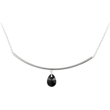 Montres & Bijoux Femme Colliers / Sautoirs Sc Crystal BS2551-B1213-JET Argenté