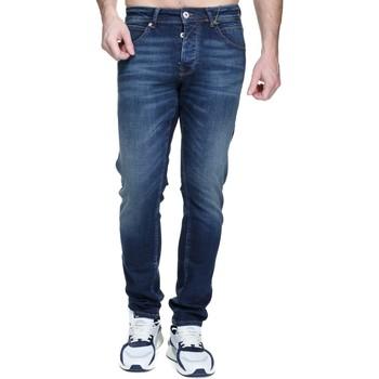 Vêtements Homme Jeans slim Kenzarro Jeans délavé Bleu