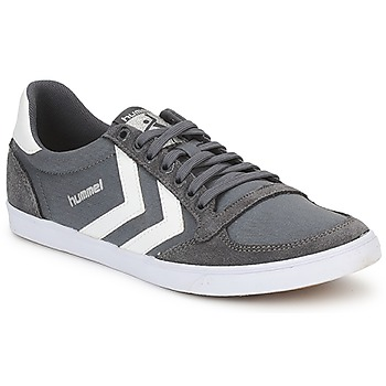 Chaussures Baskets basses Hummel TEN STAR LOW CANVAS Gris / Blanc