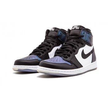 Chaussures Baskets montantes Nike Air Jordan 1 High All Star Chameleon Black/Black-Metallic Silver-White