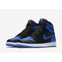 Chaussures Baskets montantes Nike Air Jordan 1 High Royal Blue Black/Varsity Royal-White