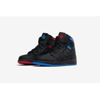 Chaussures Baskets montantes Nike Air Jordan 1 High Quai 54 Black/University Red/Game Royal