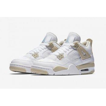 Nike Air Jordan 4 Gs Linen White/Boarder Blue-Light Sand ...