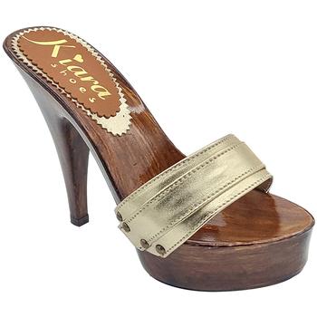 Chaussures Femme Sabots Kiara Shoes K9201 Or