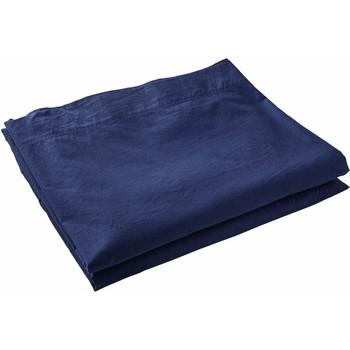 Maison & Déco Draps Baton Rouge Draps plat 240x300 coton uni Bleu
