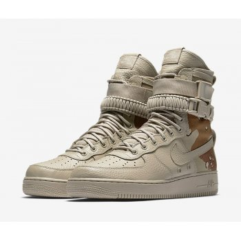 Chaussures Baskets montantes Nike SF Air Force 1 Dessert Camo Chino/Chino/Classic Stone