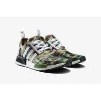 Chaussures Baskets basses adidas Originals NMD R1 x Bape Camo Green Pantone / Running White Ftw / Running White Ftw