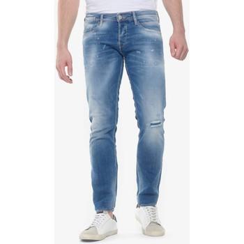 Vêtements Homme Jeans slim Japan Rags Felip 700/11 slim jeans destroy bleu n°4 BLUE
