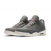 Chaussures Baskets basses Nike Air Jordan 3 Wool Dark Grey Dark Grey/Dark Grey-Sail