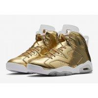 Chaussures Baskets montantes Nike Air Jordan 6 Pinnacle Gold Metallic Gold/White