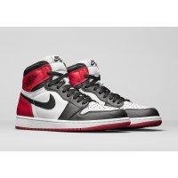 Chaussures Baskets montantes Nike Air Jordan 1 High Black Toe Black/White-Varsity Red
