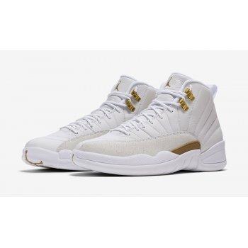 Chaussures Baskets montantes Nike Air Jordan 12 x OVO White White/Metallic Gold-White